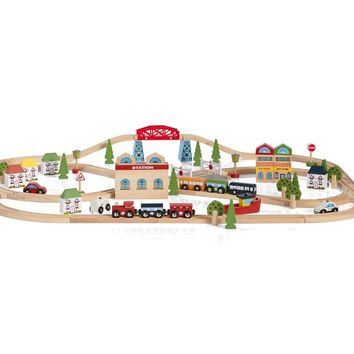 Town and Country Wooden Train Set | Pottery Barn Kids