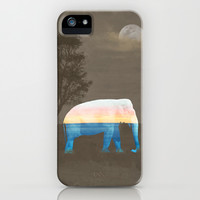 An Elephant Dreams of the Sea iPhone & iPod Case by Melek Design