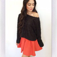 Winter Play Skirt- Orange