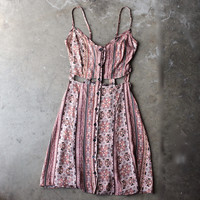 reverse - day at the beach sun dress - beige print