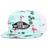 Vans  The Pink Flamingo Trucker Hat in Blue Atoll Flamingo : Karmaloop.com - Global Concrete Culture