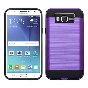 Galaxy On5 Case, Slim Hybrid [Impact/Shock Resistant] Dual Layer Case for Samsung Galaxy On5 - Brush Purple