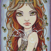 Modern and Contemporary Art Cross Stitch Kit By Tanya Bond 'Dryad' - Seven Deadly Sins Needlecraft Counted CrossStitch