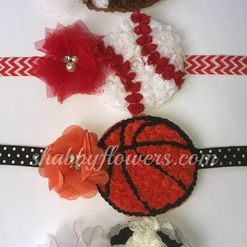 Petite Headband Sports Kits - Football, Baseball, Basketball and Soccer