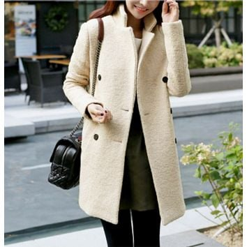Womens Classic Double Breasted Coat
