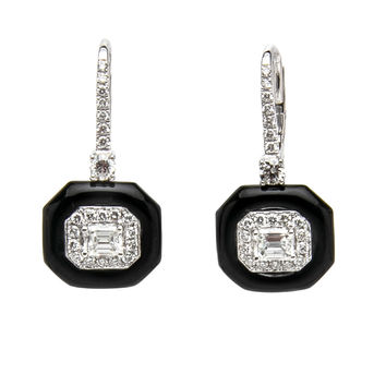 Oui Enamel and Diamond Earrings