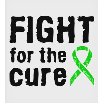 "Fight for the Cure - Lime Green Ribbon Lyme Disease 9 x 10.5"" Rectangular Static Wall Cling"