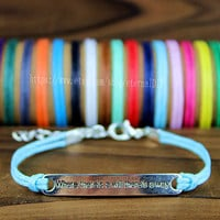"Discount 50% -  Handmade bracelet ""where there is a will there is a way"", encourage everyone to the bracelet, the best gift"