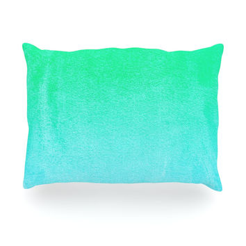 "Monika Strigel ""Blue Hawaiian"" Aqua Green Oblong Pillow"