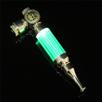 Newest Best Price 1pcs YD505 MINI Pipe Metal Smoking Pipe With LED Flash Light sending screens Gift