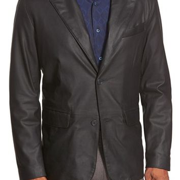 Men's Remy Leather 'Lite' Button Blazer,