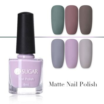 UR SUGAR Matte Nail Polish Mirror Long Lasting Nail Art Varnish Dull Esmaltes Manicure Quick Dry Nail Gel Permanent Nail Lacquer
