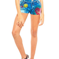 Zara Terez Girl's Tie Dye Collage Shorts