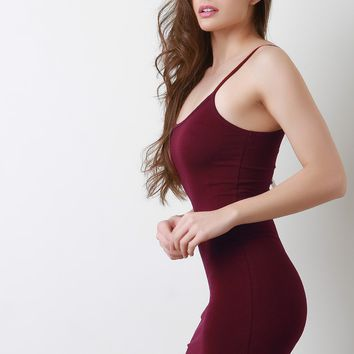 Spaghetti Shoulder Strap Cami Bodycon Dress
