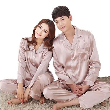 Pajama Sets Satin Silk Sleepwear