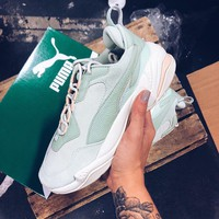 Puma Thunder Desert Menthol Green Daddy Shoes Women's Thick-soled Running Shoes