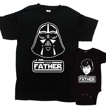 Matching Father Son Shirts Daddy And Me Outfit Dad And Baby Gift First Fathers Day Gift For Dad Family T Shirt I Am Your Father -SA1100-1101