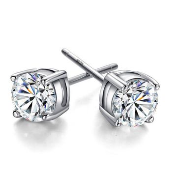 Twinkle 925 Silver Crystal Stud Earrings +Gift Box