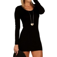 Black Illusion Beaded Cocktail Dress