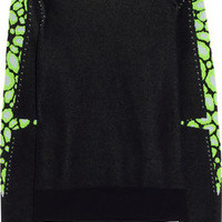 KENZO | Leopard-intarsia cotton-blend sweater | NET-A-PORTER.COM