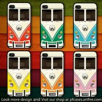 CHOOSE YOUR FAVORITE COLOR OF VW MINIBUS Case For Iphone 44s 5 Samsung S234 by pfstore