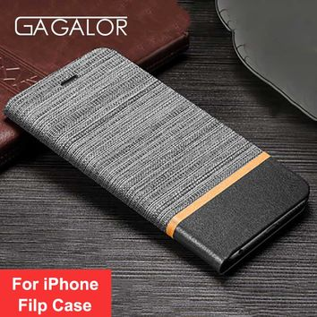 GAGALOR Luxury Flip Case For iPhone 6 6S 7 7Plus Case Wallet Holster PU Leather Book Cover for iPhone X 8 8 Plus Case Coque