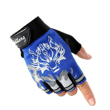 Fashion Sport gloves Half-finger mittens fingerless men women glove Exercise half finger luva fitness male guantes