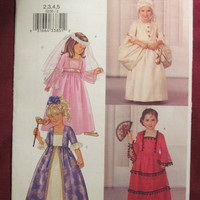 SALE Uncut Butterick Sewing Pattern, 3236! 2 Avail, Size 2-3-4-5, Girls Costumes, Princess/Victorian dress/Renaissance/Queen/Spanish Pretend