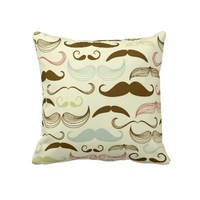 Mustashe Pillow from Zazzle.com
