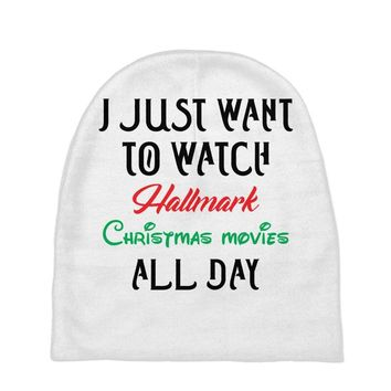 I just want to watch hallmark Christmas movies all day Baby Beanies
