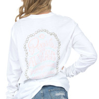 Lauren James Pearls are Always Appropriate Tee in White