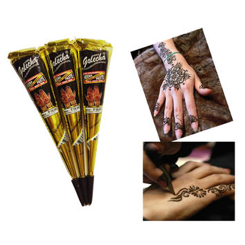 Body Art Paint High Quality Mini Natural Indian Tattoo Henna Paste for Body Drawing Black Henna