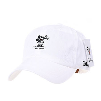 WITHMOONS Disney Mickey Mouse Embroidery Baseball Cap CR1283 (White)