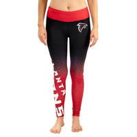 Atlanta Falcons Women's Gradient Leggings – Black