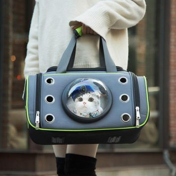 Cat Space Capsule Shaped Pet Carrier Travel Carrying Breathable Shoulder Backpack Outside Travel Portable Bag Pet Products