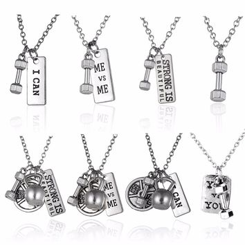 Fitness Motivational Necklaces
