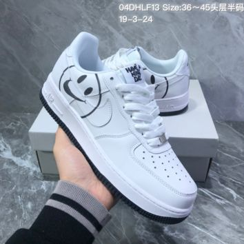 HCXX N1109 NIKE AIR FORCE 1 07 LV8 ND Have a Nike Day Skate Shoes White