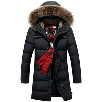 2017 Winter Men Duck Down Jackets Big Size 70% Off Men' s Casual Down Jackets Thicken Coats OverCoat Warm Clothing