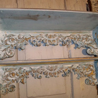 Shelf grouping ornate distressed hand painted by AnitaSperoDesign