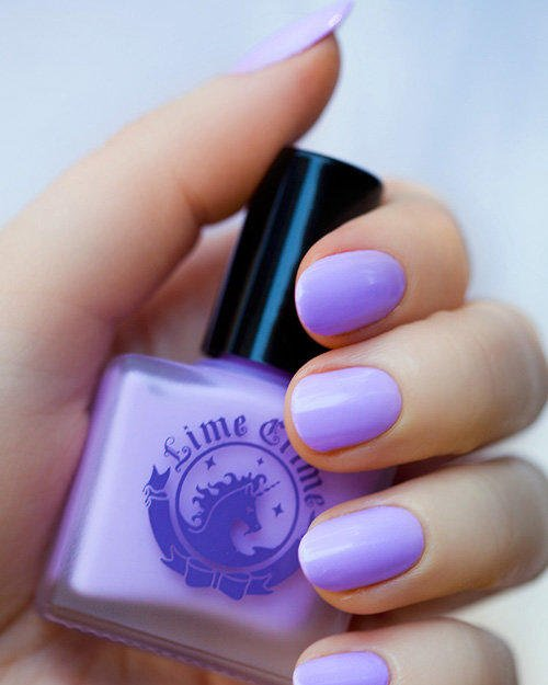 Pastel Purple Gel Nail Polish: LAVENDAIRY Pastel Purple Lilac Nail From Lime Crime