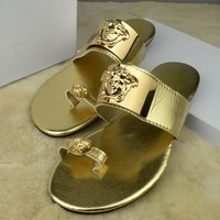 Versace Women Casual Fashion Flat Sandal Slipper Shoes0
