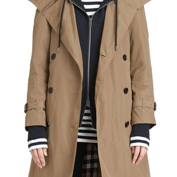 Burberry Amberford Taffeta Trench Coat with Detachable Hood | Nordstrom