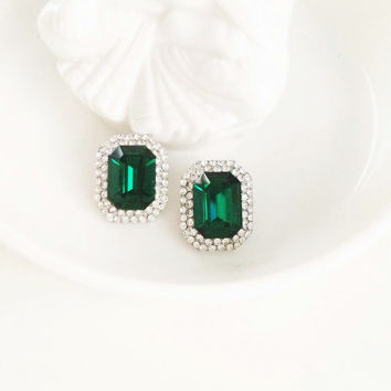 Emerald Isles Swarovski Earrings