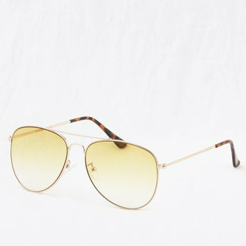 Aerie So Fly Aviator Sunnies, Yellow