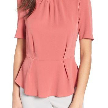 WAYF Short Sleeve Peplum Top | Nordstrom