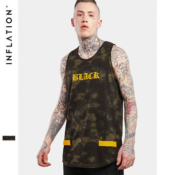 Summer Fashion Unisex Men's Extended Tank Top Light Wash Exclusive Pattern