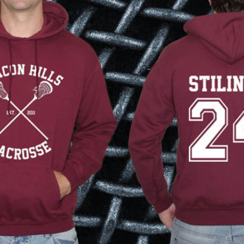 Teen Wolf Hoodie, Beacon Hills Lacrosse Hoodie, Stilinski 24 Premium Quality. All names&numbers Available