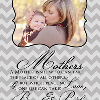 Mothers Day Gift for Mom - 8x10 Art Print, Customized with Your Photo, Your Words and Your Names - Gift for Mom from Son, Gift for Wife