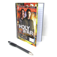 Supernatural Notebook / Journal UpCycled Sam and Dean Winchester