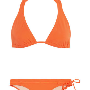 L'Agent by Agent Provocateur Honore halterneck bikini – 55% at THE OUTNET.COM
